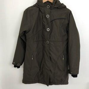 Isis Brown Softshell Fleece Lined Winter Coat